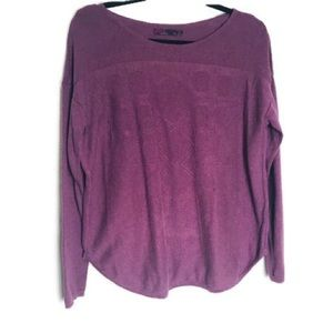 Prana purple crew neck sweater